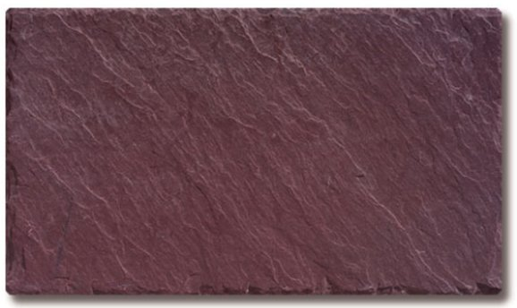 Royal Purple - A beautiful, nearly clear, dark purple slate. Some pieces may have small markings of green. Provides a contrasting roof for walls of light shades, or a harmonizing roof for brick walls. Some weathering to buffs can occur.