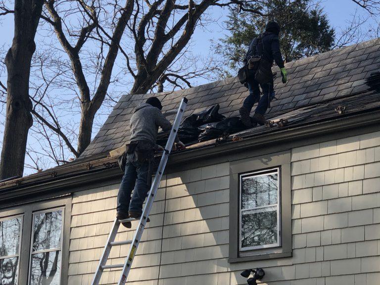 Repairing slate roof