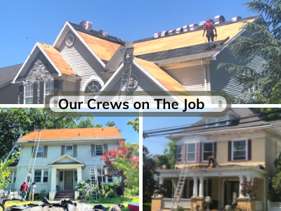 our crews work hard on the job